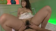 Wild Asian teen bounces on the fat dick