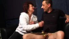Mature housewife gets naked to fuck