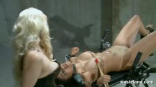 Lesbian sex slave brought to orgasm by Mistr