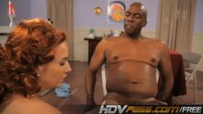 HDVPass Ashli rides her first massive black c
