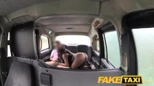 Fake Taxi Ebony babe sucks and fucks in taxi