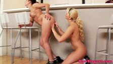 Euro lesbian Angel Rivas toying tight ass