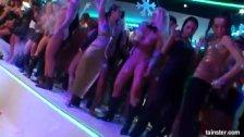 Horny pornstars take dicks in the club