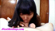 Heather Deep plays with new pussy and big coc