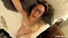 Busty blonde Brett's home video masturbation