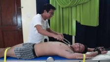 Tickling Str8 Asian Boy Leonard - duration 5:01