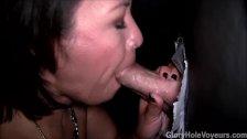 Asian Milf Sucks Dick in Gloryhole
