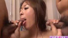 Risa Misaki has big jugs touched and hairy