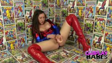COSPLAY BABES Spider Woman Cums in Comic Stor