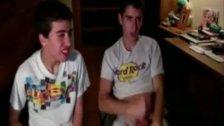 College Boys Jerksoff each other on webcam