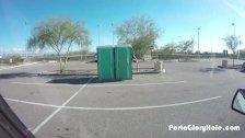 Porta Gloryhole  girl sucks dick in public