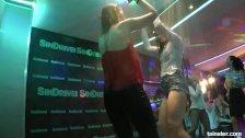 Sexy bi pornstars fuck in club