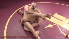 Wrestling Loser Gets A Face Full Of Foot