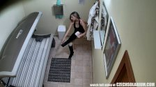 Amazing Masturbation in Solarium
