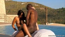 Ebony Couple Fucking Outdoors