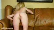 Amateur on casting couch eating ass and pussy
