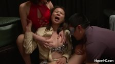 Asian MILF at the sex club gets fingered