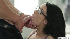EroticaX Megan Rain Cum Licks The Boss