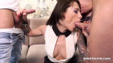 Nikita Bellucci Gets Double Anal in Gangbang