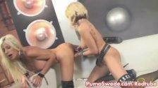 Blonde Puma Swede Gets Rocked by Briana!