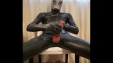 Full Rubber Wank And Cum