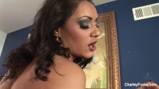 Smoking lesbian fun with Charley and Honey