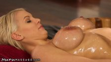 NuruMassage Big Tits Oiled Up for Big Cock