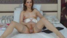 Blonde Tranny Strip and Masturbate her Cock