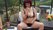 EuropeMature Mystery mature Christina masturbation