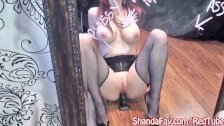 Kinky Milf Shanda Fay Gets off with Big Black Dildo!