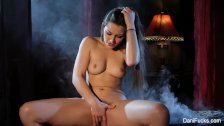 Smoking hot solo scene with brunette babe Dani Daniels