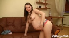 Pregnant Anya Enjoying her Body