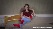 Sweet teen Rebel Lynn gets nailed by old Olivier