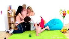Group play with two horny teens