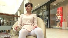Jeny Smith - white pantyhose spycam