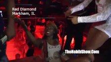 misty stone at red diamondss strip club
