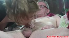 Dutch prostitute cumswapping after fucking