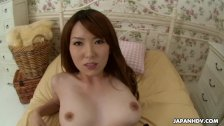Asian floozy getting her bush stuffed with a huge one