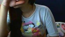 Ninfeta safadinha na webcam