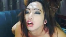 Petite Asian Shemale Gets a Sticky Facial