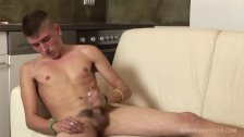 Young and Hung Jaro Sida Jacking His Uncut Cock