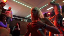 Pornstar clubbers dancing and fucking in public