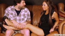Footjob Virgin - Amateur cutie has feet worshipped