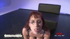 Nerdy Fiona with big natural tits gets Jizzed