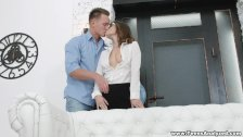 Cute coed assfucked by a tutor