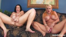 Jayden Jaymes and Sophie Dee get silly and sexy