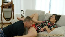 DaneJones Doggystyle couch sex for sweet teen in red panties and high heels