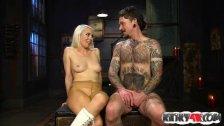 Hot mistress femdom humiliation and cumshot