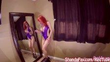 Shanda Fay Sucks Cock for Facial on her Knees!