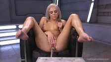 Blonde Newcomer Squirts all over!